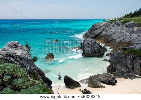 Bermudas escondida playa Astwood Cove
