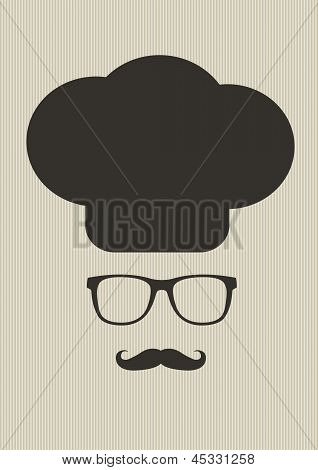 Hipster Chef Vector Illustration