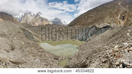 Lake On Top Of Baltoro Glacier, Pakistan