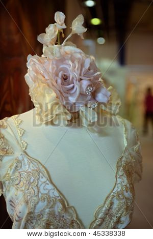 NEW YORK - APRIL 22: A Bridal dress on mannequin for Claire Pettibone bridal presentation