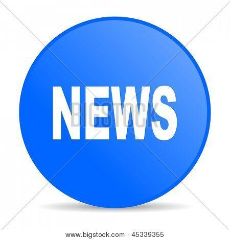 news blue circle web glossy icon