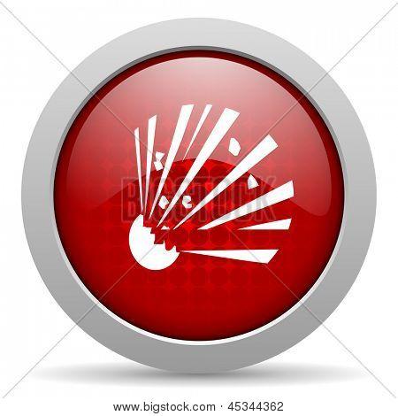 bomb red circle web glossy icon