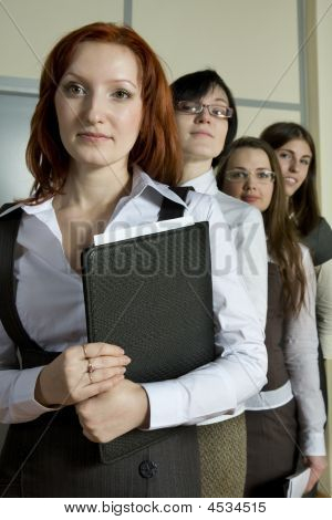 Businesswoman Leading Business Team In An Office