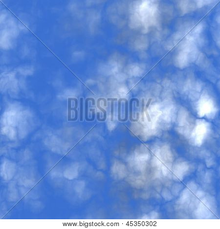 Seamless Puffy Clouds Texture