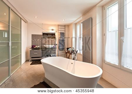 interior of beauty house, bathroom