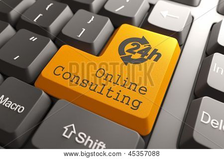 Keyboard with Online Consulting Button.
