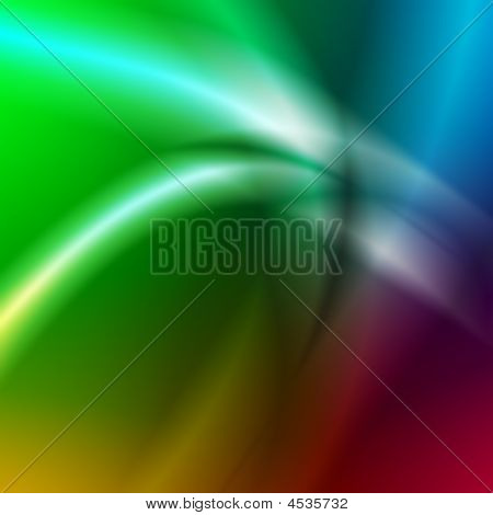 Abstract Light Lines Over Rainbow Background