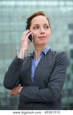 Portrait Of A Confident Young Business Woman Talking On Phone