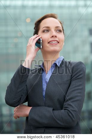 Portrait Of A Businesswoman Talking On The Phone