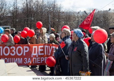 Celebration of the 1 May (International Workers' Day) in Russia
