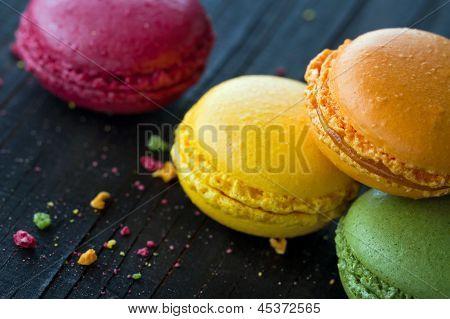 Closeup Of Colorful Macaroons