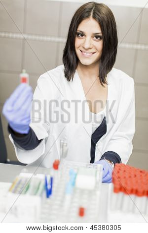 Young Woman In Medical Laboratory