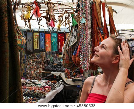 Woman Shopping At Market