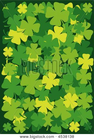 St. Patrick's Day Four Leaf Background