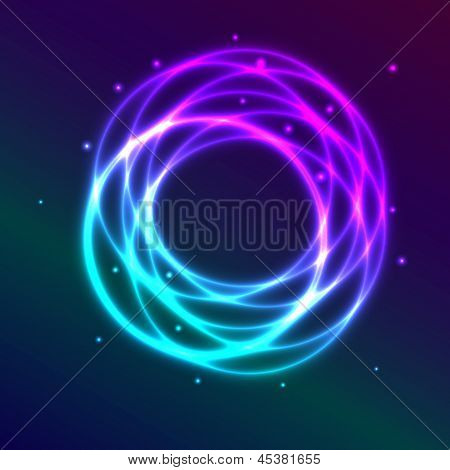 Abstract Background With Blue-purple Shadingl Plasma Circle Effect