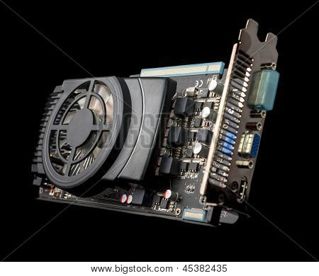Graphics Card On Isolated Background