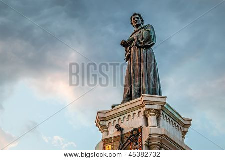 Poet Andrija Kacic-miosic Monument In Makarska, Dalmatia, Croatia