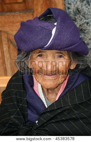 Elderly Homeless Woman