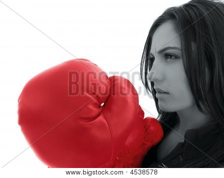 Portrait Of Boxer Girl