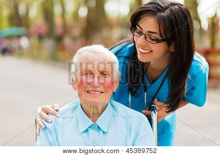 Caring Look Over Patient