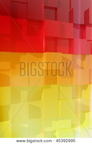 Abstract Composition With Colorful Cubes