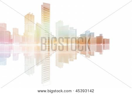 City Skyscrapers And Office Buildings