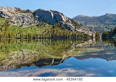 Shadow Lake In The Sierra Nevada