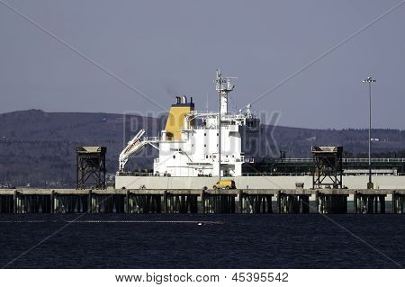 Cargo Ship At Port