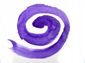 stock photo of centrifuge  - Purple spiral on white is mean - JPG