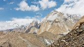 foto of skardu  - Karakorum Peaks over Baltoro Glacier in Pakistan - JPG