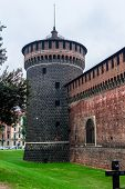 foto of milan  - Tower of the Sforza Castle in Milan - JPG
