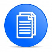 document blue circle web glossy icon