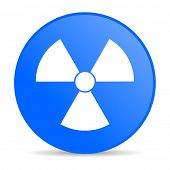 radiation blue circle web glossy icon