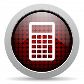 calculator glossy icon