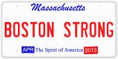 Boston Strong License Plate