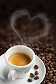 stock photo of stimulating  - coffee cup with heart - JPG