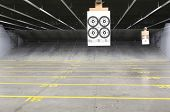 foto of sniper  - Target rows at a shooting range - JPG