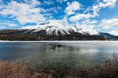 stock photo of engadine  - beautiful mountain landscape - JPG