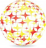 spain ball made of stars