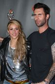LOS ANGELES - MAY 8:  Shakira, Adam Levine arrives at