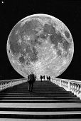 foto of lunate  - Stairs to the Moon - JPG
