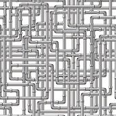 picture of pipe-welding  - A background of interwoven silver pipes - JPG