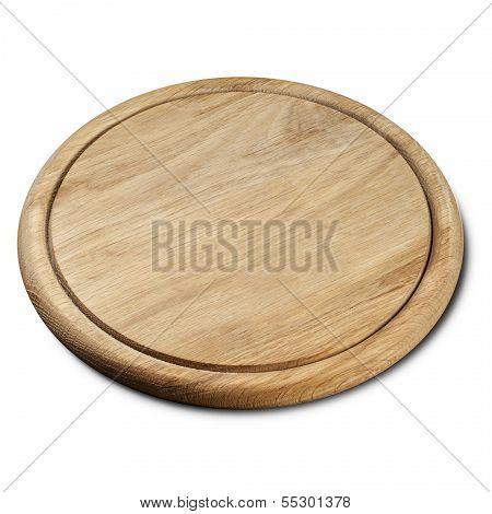 ound wooden breadboard