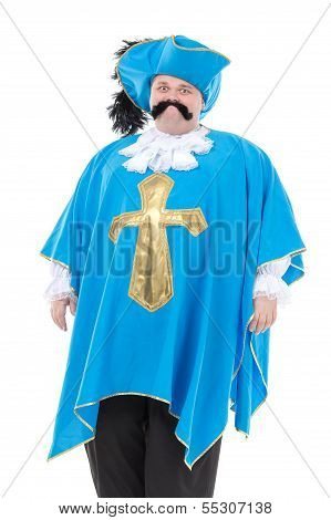 Musketeer In Turquoise Blue Uniform