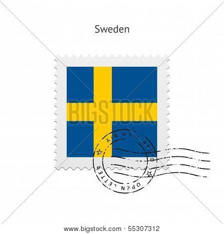 Sweden Flag Postage Stamp.