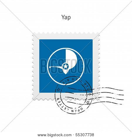 Yap Flag Postage Stamp.