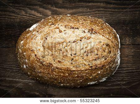 Loaf Of Multigrain Artisan Bread