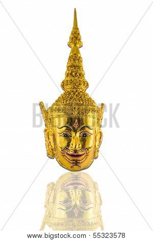 Thai Ramayana Mask Figurine