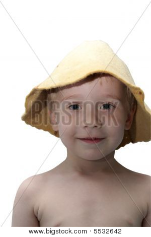 Boy In Sauna Hat