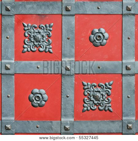 Element Wrought Iron Forged Door Castle